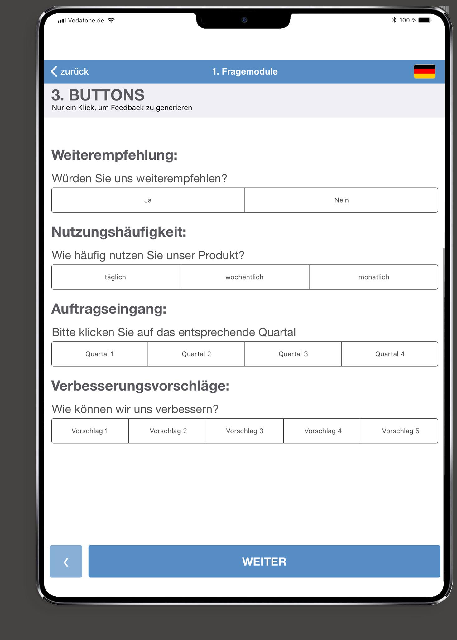 feedback ipad